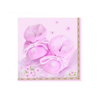 Serwetki Buciki różowe